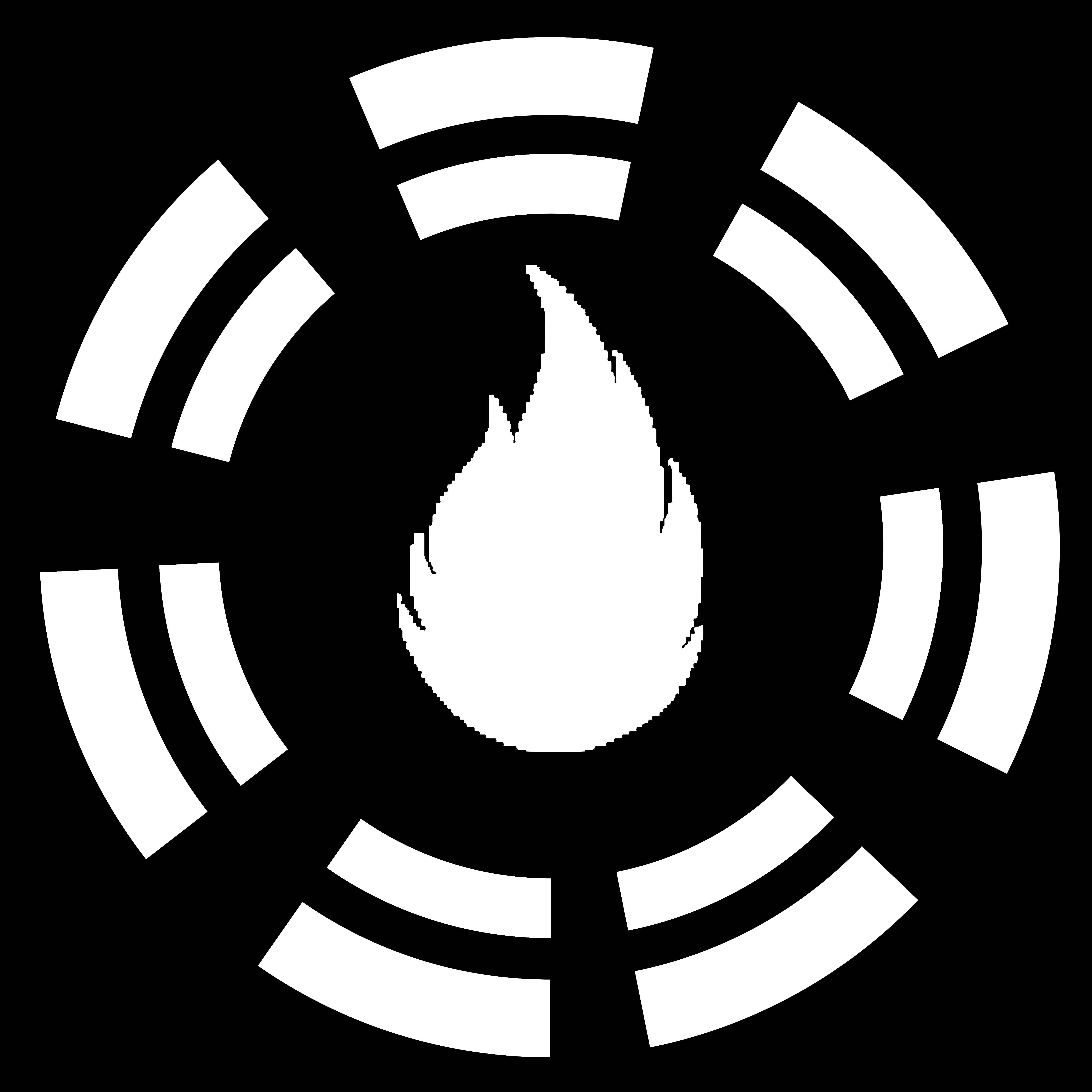 灰色加绒火焰素材
