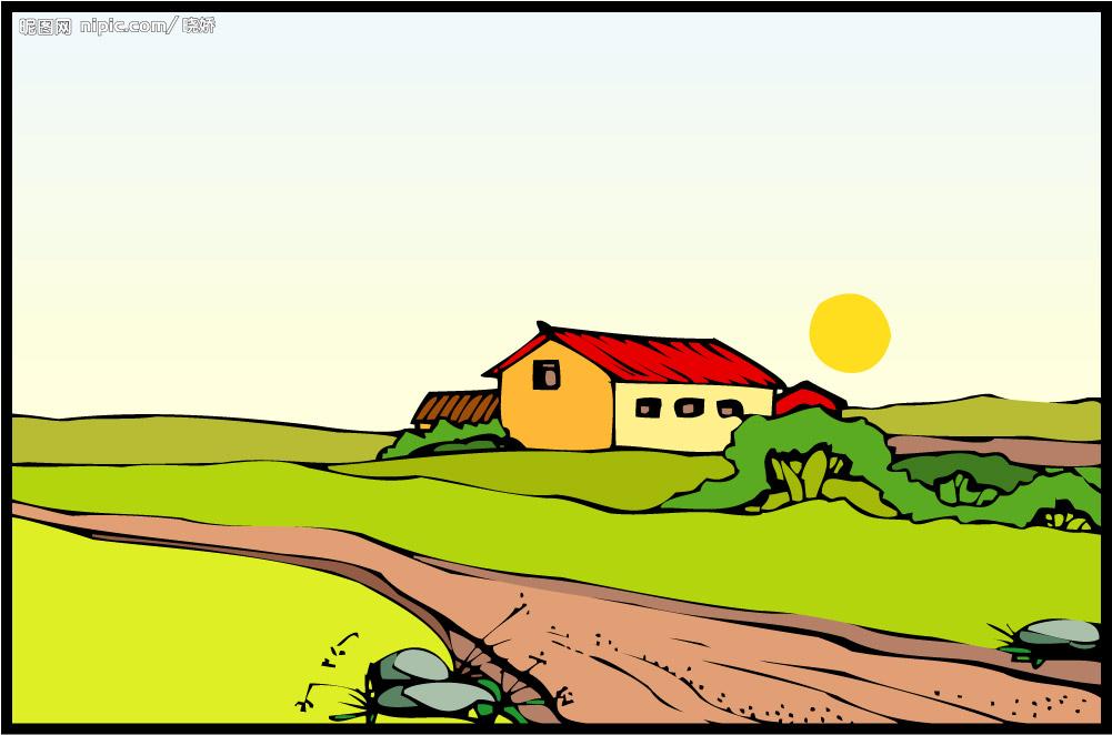 阳光/阳光下乡村路的交集