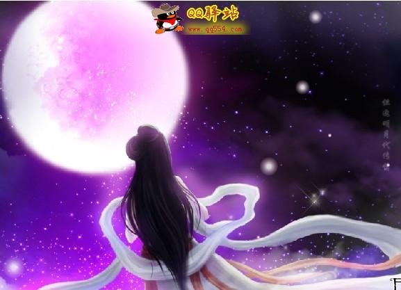 古风女头背景月亮