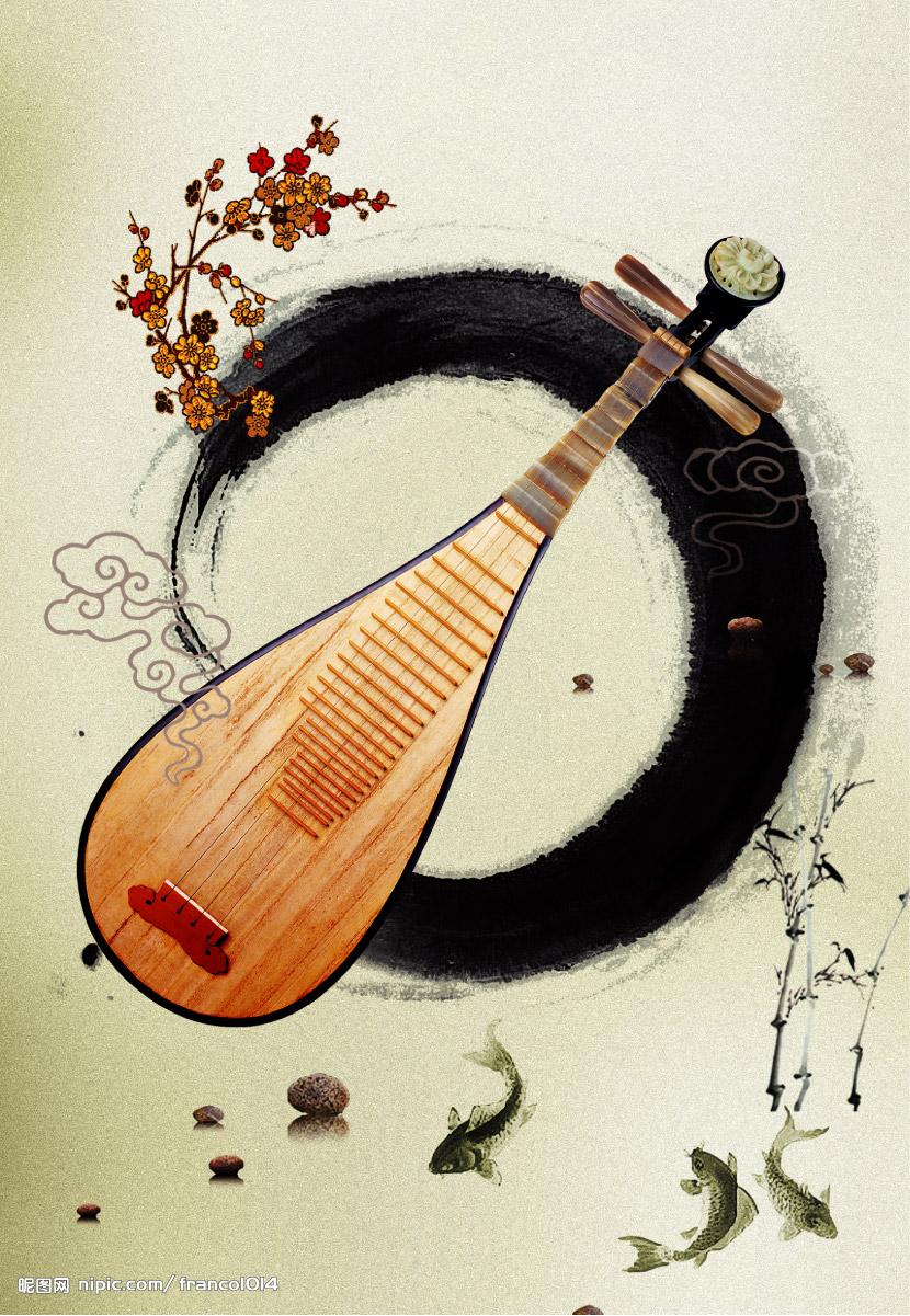 琵琶图片古风手绘